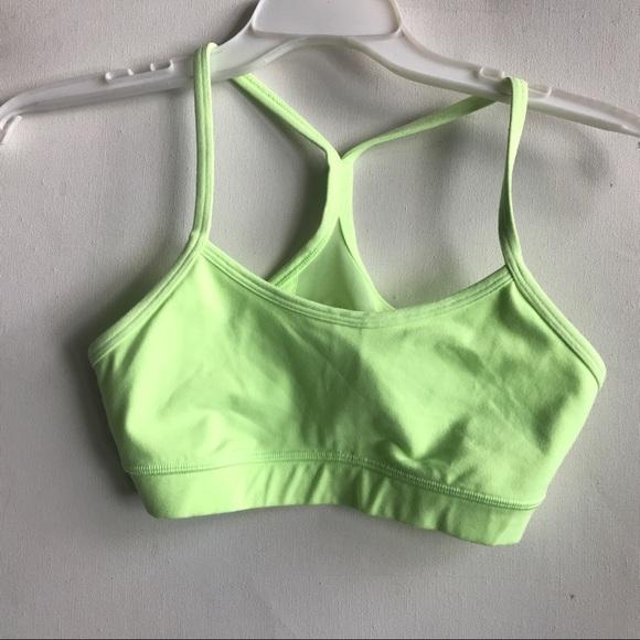 lululemon athletica Other - LULULEMON neon green energy bra 4 bright